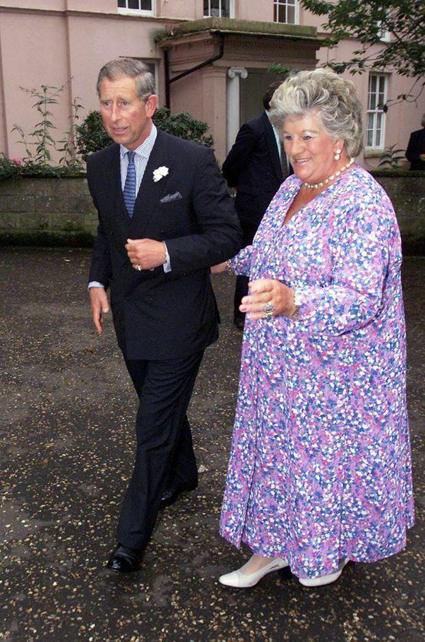 Lady Mary Colman avec le prince Charles, le 1er août 2002