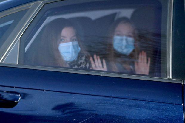 Les princesses Sofia et Leonor d'Espagne à Madrid, le 6 janvier 2021