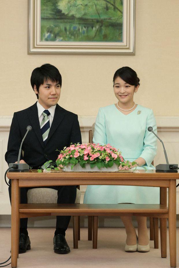 Принцесса Японии Мако и Кей Комуро в день объявления о помолвке, 3 сентября 2021 г.