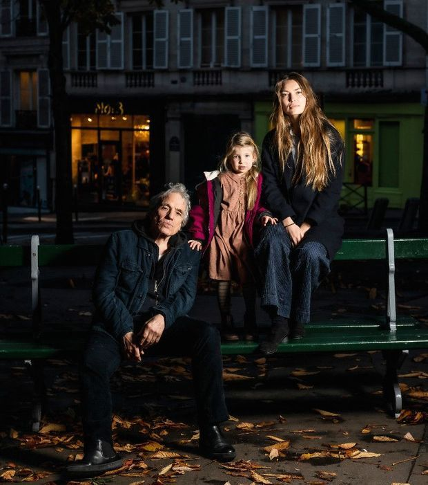 Abel Ferrara, sa femme, Cristina Chiriac, et leur fille, Anna, en novembre dernier à Paris.