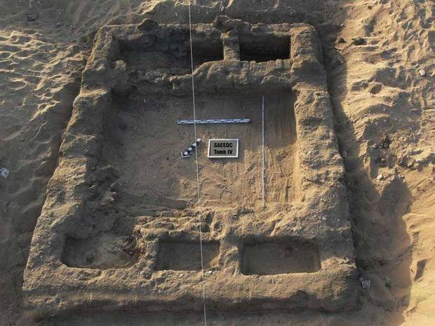 Vue d'ensemble de la sépulture