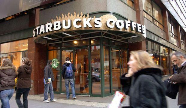 A Starbucks coffee shop in Midtown Manhattan