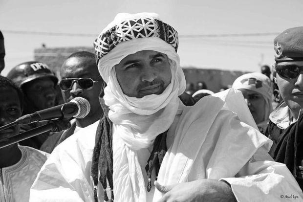 Adal Rhoubeid, chef de file du MDR TARNA, ici pendant la campagne des présidentielle en février 2016, pointe un risque d'explosion sociale dans le Nord du Niger