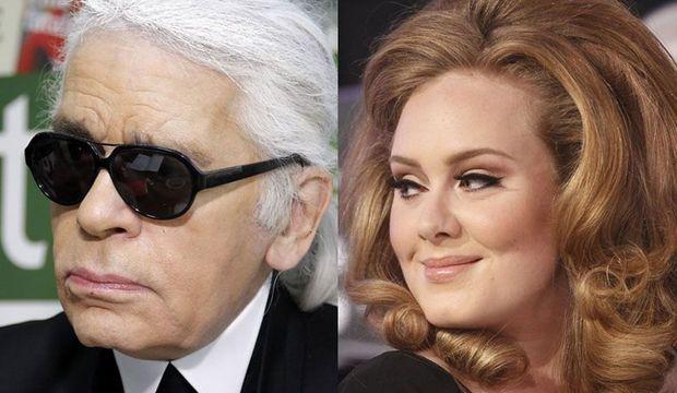 Adele et Karl Lagerfeld-
