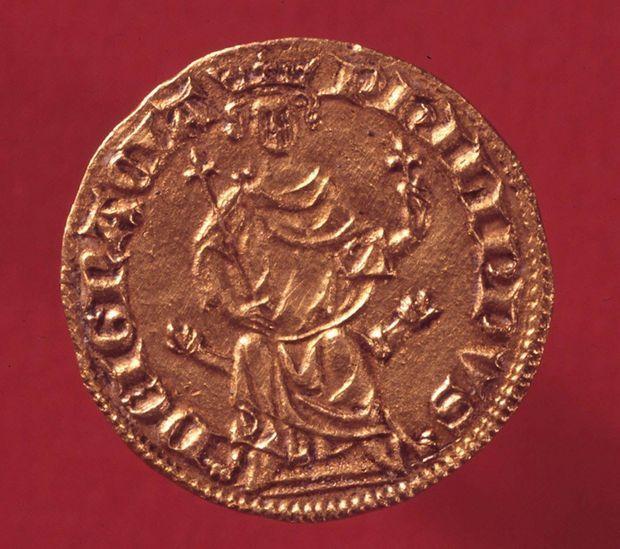 Ecu royal en or de Philippe IV le Bel, 1290, conservé au musée de la Monnaie à Paris