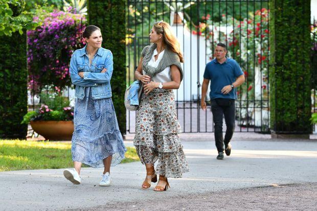 Les princesses Victoria et Madeleine de Suède sur l'île d'Öland, le 5 juillet 2021
