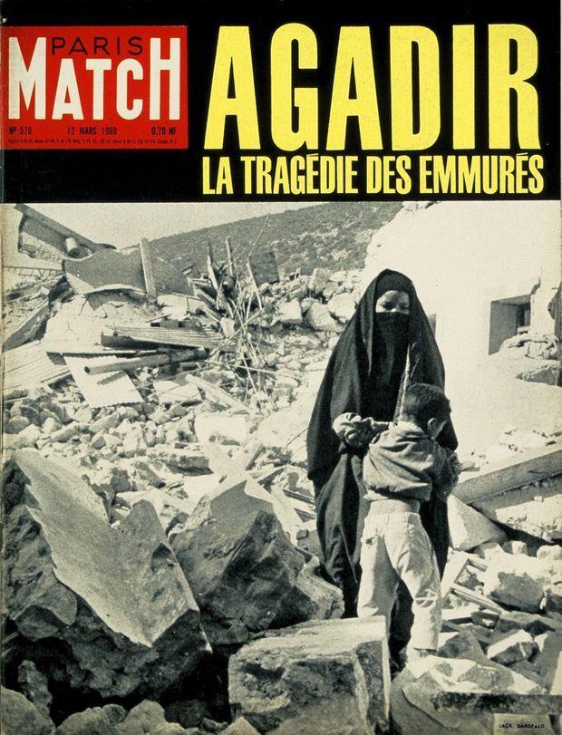 « Agadir, la tragédie des emmurés » - Couverture du Paris Match n°570, 12 mars 1960
