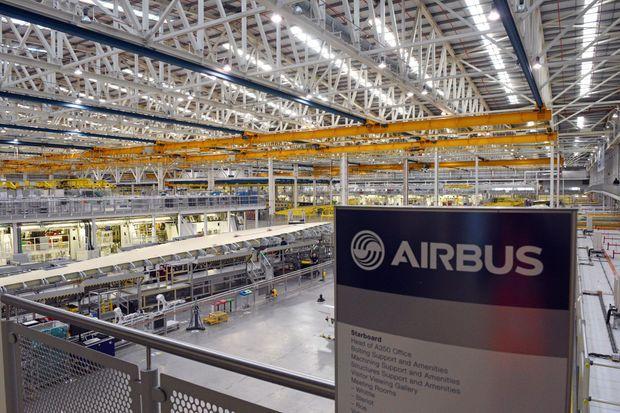 L'usine Airbus de Broughton, au Pays-de-Galles, où sont fabriquées les ailes de l'A350.