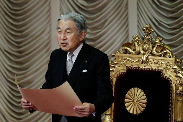 L'empereur Akihito du Japon au Parlement à Tokyo, le 13 septembre 2011