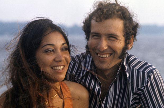 Alain Colas et son épouse Teura en juillet 1972.