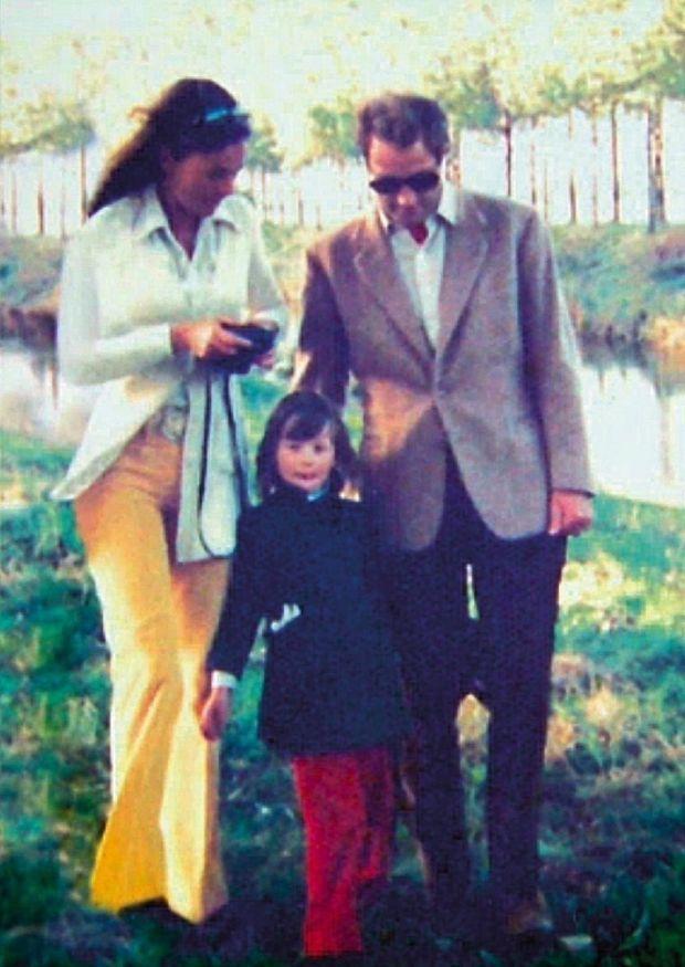 Albert, alors héritier du trône, avec la baronne Sybille de Sélys Longchamps et leur fille, Delphine, dans les années 1970
