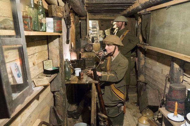 Reproduction de soldats britanniques de la guerre 14-18, au musée Somme 1916 d'Albert.