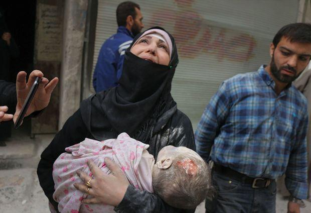 Alep, du côté des rebelles, le 23 septembre.
