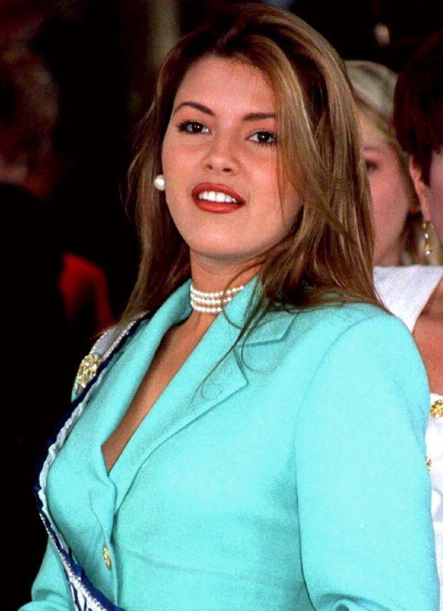Alicia Machado en juin 1996, après sa victoire. Elle avait été sommée par les organisateurs du concours Miss Univers de perdre 12 kg en deux semaines.
