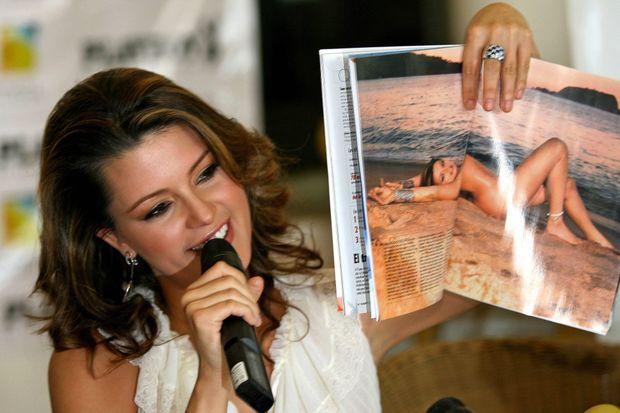 Alicia Machado, Miss Univers 1996, en 2006, à Mexico.