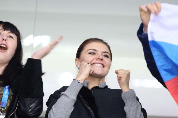 Alina Kabaeva, photographiée le 16 février 2014 dans les gradins des Jeux olympiques de Sotchi.