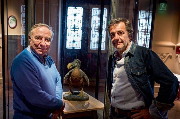 Allain Bougrain-Dubourg et Nicolas Vanier au Muséum national d'histoire naturelle, à Paris