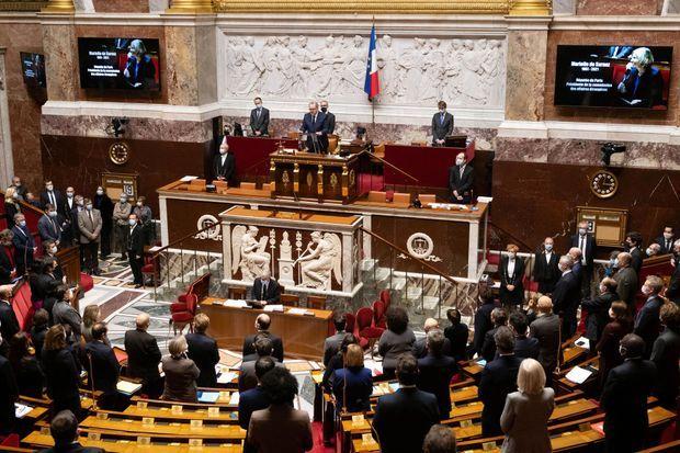 Hommage à Marielle de Sarnez à l'Assemblée nationale.