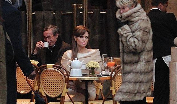 Angelina Jolie à Pairs pour le tournage de The tourist-