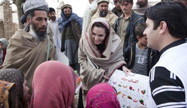 Angelina Jolie en Afghanistan-