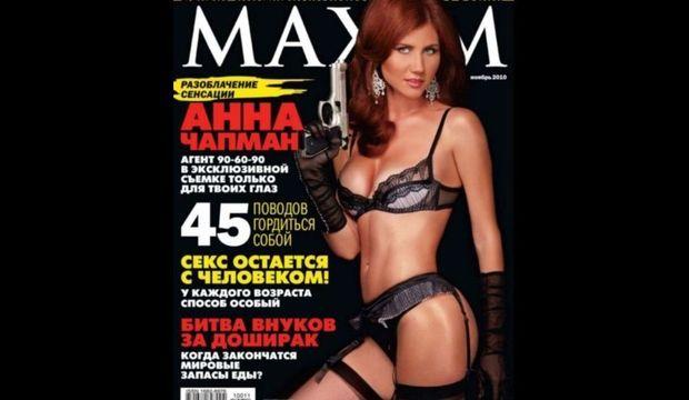 Anna Chapman en Une de Maxim-