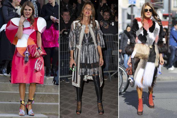 Anna Dello Russo aux défilés Comme des Garçons, Givenchy et Dior.