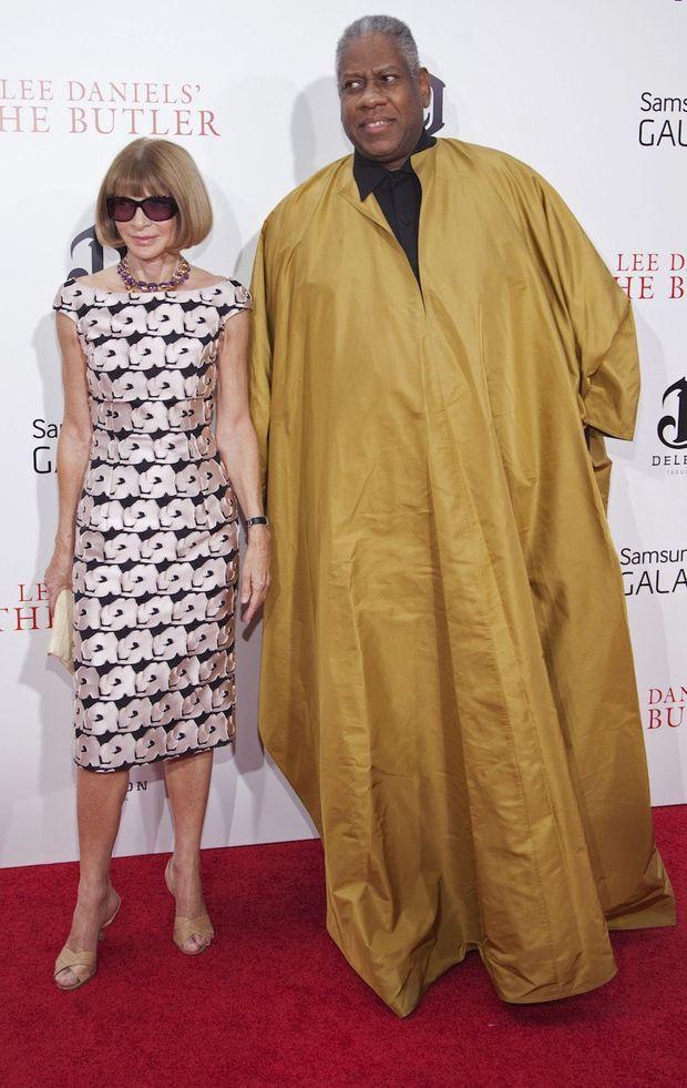 """Anna Wintour et Andre Leon Talley à la première de """"The Butler"""" en 2013."""