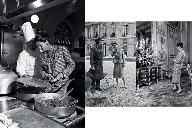 En avril 1980 à l'Elysée. La première dame fait le tour du propriétaire lors d'une séance photo pour Paris Match, à l'occasion de la Journée sans tabac qu'elle avait décidé de promouvoir.