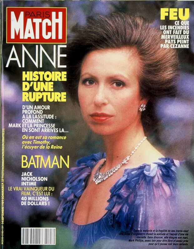 La princesse Anne en couverture de Paris Match n°2103, 14 septembre 1989.
