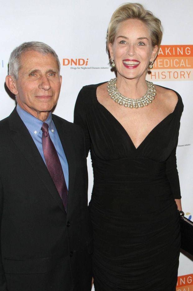 Anthony Fauci et Sharon Stone, en octobre 2018.