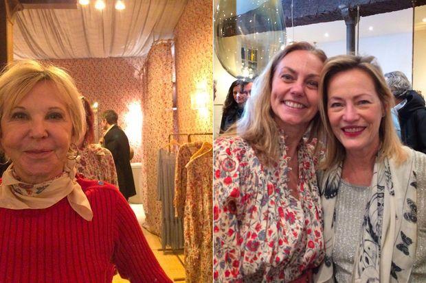 Marie-Christiane Marek et Gabriella Cortese et Gabrielle Lazure à l'inauguration de la boutique Antik Batik.