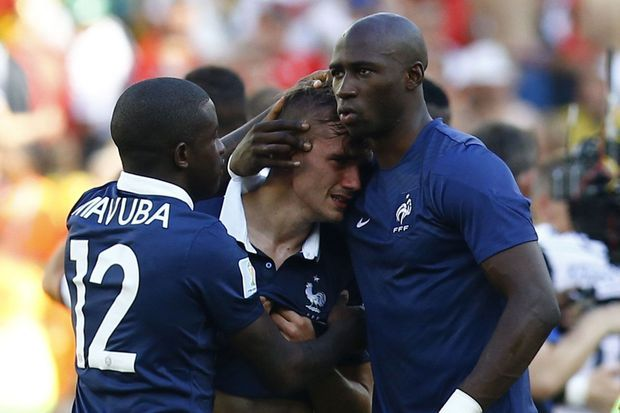 Antoine Griezmann, en larmes après l'élimination des Bleus en Coupe du Monde