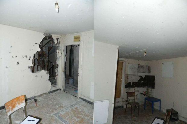 Les terroristes étaient retranchés au 3ème étage.