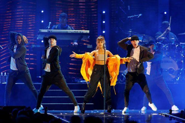 Ariana Grande en concert à Las Vegas, en septembre 2016