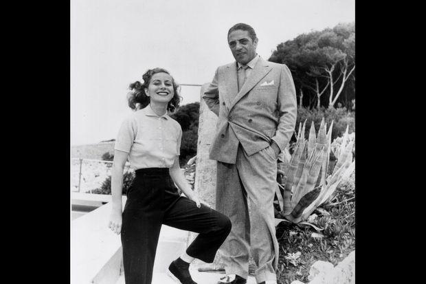 Tina et Aristote Onassis vers 1955.