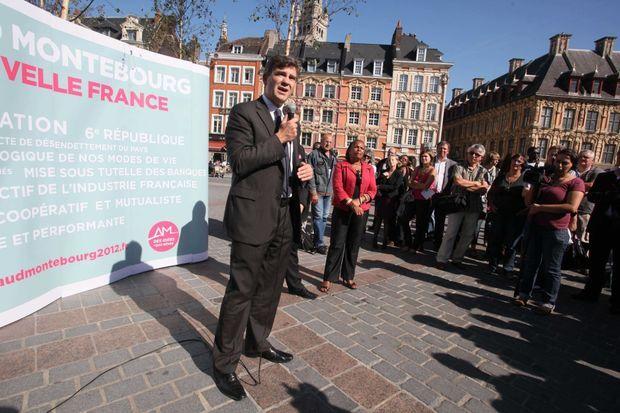 Le stand-up d'Arnaud Montebourg en 2011 à Lille...