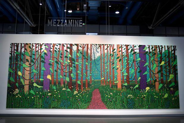 """""""L'arrivée du printemps à Woldgate, East Yorkshire en 2011"""" du peintre David Hockney au Centre Pompidou à Paris."""
