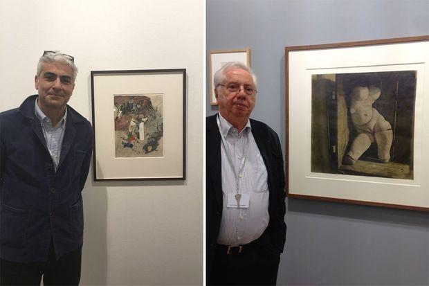 Les galeristes Marcel Fleiss et Frank Elbaz