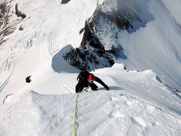 Ascension du cerro Dumbo en Patagonie.