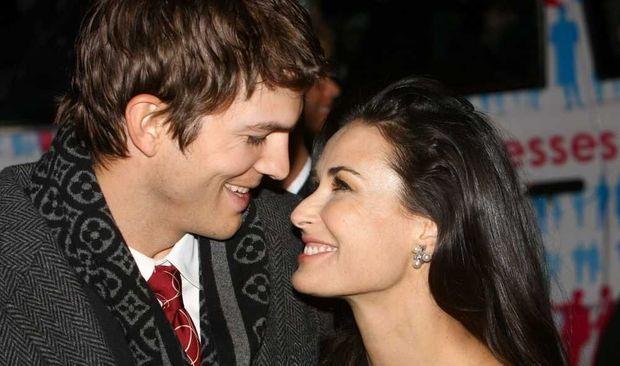 Ashton Kutcher et Demi Moore en 2008-