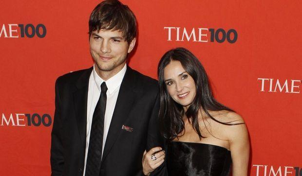 Ashton Kutcher et Demi Moore gala du Time - personnalités influentes-