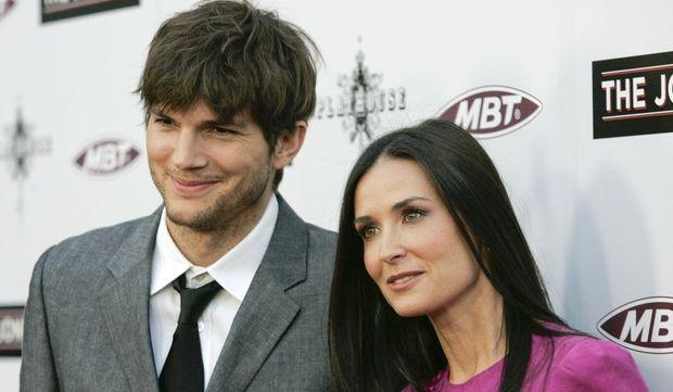 Ashton Kutcher et Demi Moore-