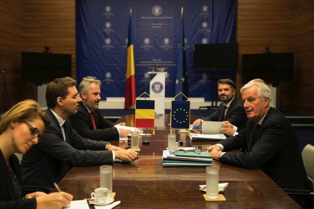 Au ministère des Affaires étrangères roumain, le 2 octobre.