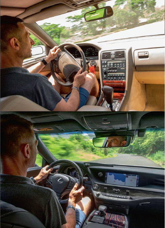Au volant de deux fleurons Lexus. Si l'originelle (en haut) en imposait par son silence de fonctionnement, l'actuelle se distingue surtout par la fulgurance de son design.