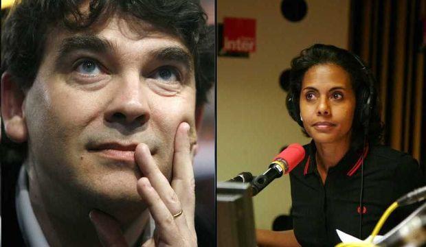 Audrey Pulvar et Arnaud Montebourg (montage)-