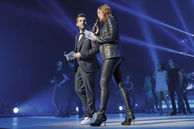 Laurent Ournac et Sandrine Quétier pendant la tournée de « Danse avec les stars ».