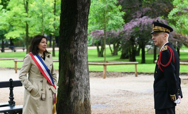 Avec Anne Hidalgo le 10 mai 2020.