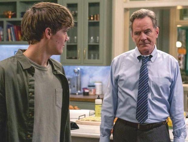 Avec Hunter Doohan, qui interprète son fils.