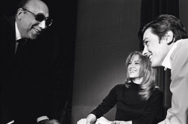 Avec Jean-Pierre Melville pendant le tournage du « Samouraï », en 1967