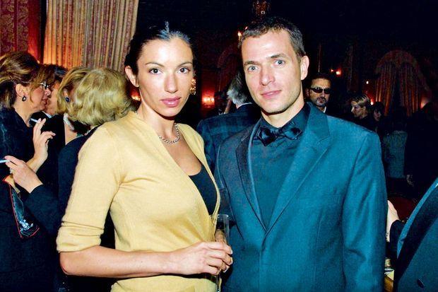 Avec l'actrice Aure Atika. Ils auront une fille, Angelica. Ici aux Sommets musicaux de Gstaad, en 2001.